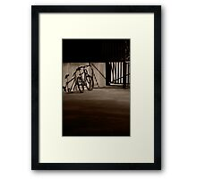 Bicycle in the Shadows Framed Print