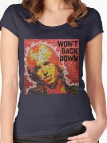 The Won't Back Down Tom - Bottle Cap Mosaic Women's Fitted Scoop T-Shirt