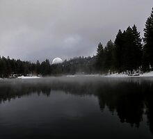 """ Smoke on the water ""@! Christmas Card Lake. by CanyonWind"