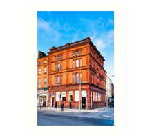 Dublin Cavendish Row on Parnell Square Art Print