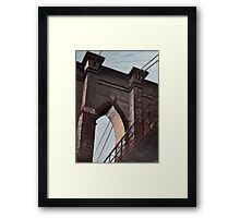 Brooklyn Bridge, Stone and Iron Framed Print