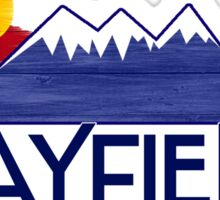 Bayfield Colorado wood mountains Sticker