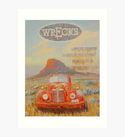 Wrecks Art Print