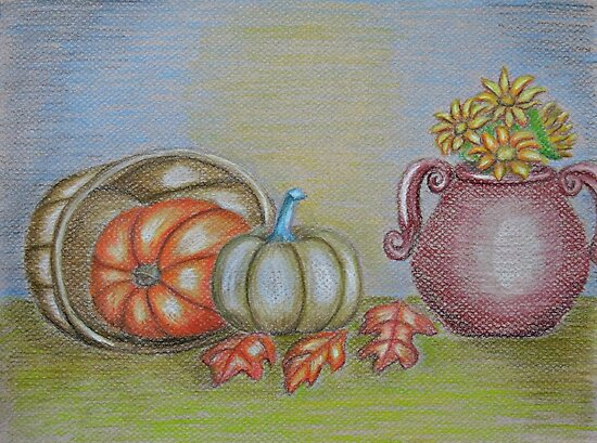 still life thanksgiving  by thuraya o