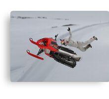 Snowmobile Tricks Canvas Print