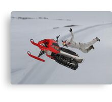 Snowmobile Tricks Canvas Print