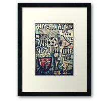USA SOCCER Framed Print