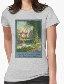 Vintage poster - France Womens Fitted T-Shirt