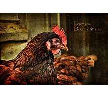 Love us, don't eat us ~ Photographic Print