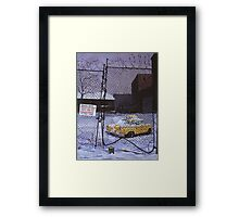 Beware of Dog Framed Print