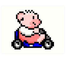 Hobbes Kart Art Print