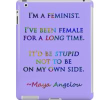 Feminist by Maya Angelou iPad Case/Skin