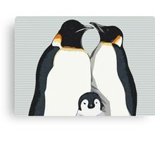 Penguin Hugs Canvas Print