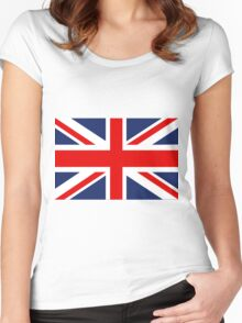 Union Jack Flag of the United Kingdom. Women's Fitted Scoop T-Shirt