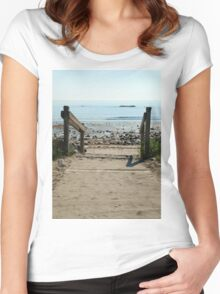 Beach Path Women's Fitted Scoop T-Shirt