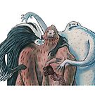 Skunk Ape, Yeti and Sasquatch by greg orfanos