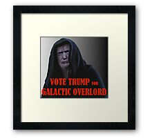 Donald TRUMP for Galactic Overlord Framed Print