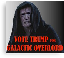 Donald TRUMP for Galactic Overlord Canvas Print