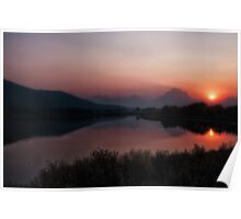 Oxbow Bend at Sunset Poster