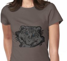 eye of the tiger blue Womens Fitted T-Shirt