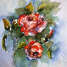 roses in watercolour.. by Almeida Coval