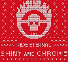 Mad Max Ugly Sweater Design Stickers by prometheus31
