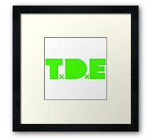 TDE TOP DAWG GREEN Framed Print