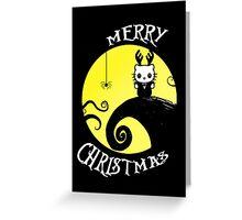 Nightmare before Christmas kitty card Greeting Card