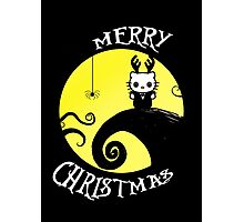 Nightmare before Christmas kitty card Photographic Print