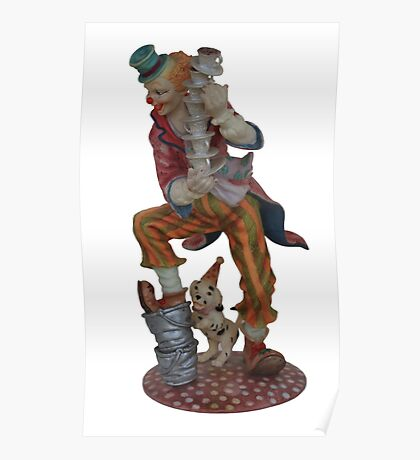 Clown balancing Poster