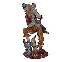 Clown balancing Photographic Print