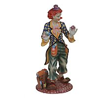 Clown juggler Photographic Print