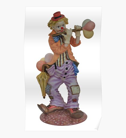 Clown playing Poster