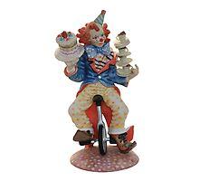 Clown cycling Photographic Print