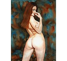 Red-haired Beauty - Dangerous Look Photographic Print