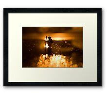 Night hike Framed Print