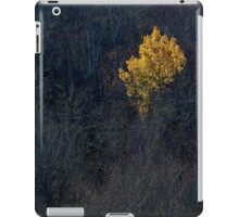 Yellow Tree Leaves Dark Contrast iPad Case/Skin