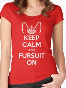Keep Calm and Fursuit On Women's Fitted Scoop T-Shirt