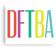 DFTBA 2.0 Canvas Print