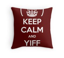 Keep Calm and Yiff On Throw Pillow