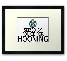 Seized by police for Hooning - QLD Police Framed Print