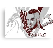 Vikings Ragnar  Canvas Print