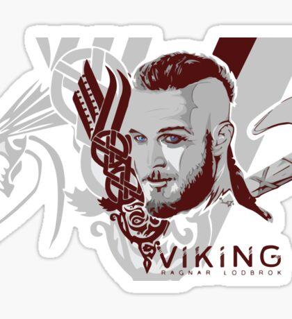 Vikings Ragnar  Sticker