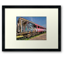 HDR Train carriage  Framed Print