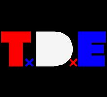 TDE TOP DAWG RED WHITE BLUE USA FOURTH OF JULY by SourKid