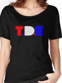 TDE TOP DAWG RED WHITE BLUE USA FOURTH OF JULY Women's Relaxed Fit T-Shirt