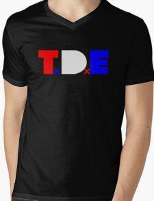 TDE TOP DAWG RED WHITE BLUE USA FOURTH OF JULY Mens V-Neck T-Shirt
