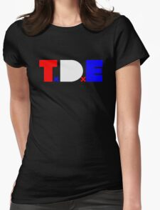 TDE TOP DAWG RED WHITE BLUE USA FOURTH OF JULY Womens Fitted T-Shirt