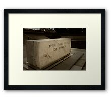 Stone of Remembrance Framed Print