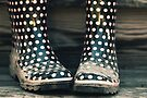 Polka Dot Rain Boots by April Koehler